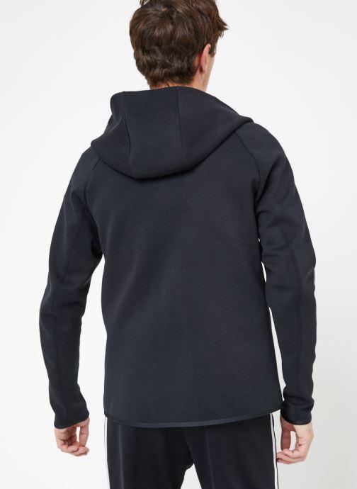 Vêtements Nike M Nike Sportwear Tech Fleece Hoodie Full Zip Noir vue portées chaussures