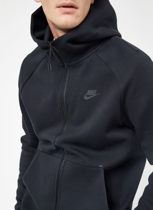 Kleding Nike M Nike Sportwear Tech Fleece Hoodie Full Zip Zwart voorkant