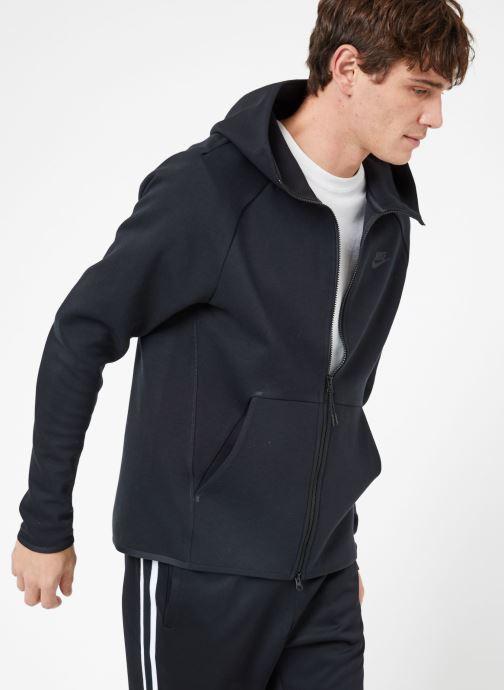 Vêtements Nike M Nike Sportwear Tech Fleece Hoodie Full Zip Noir vue droite