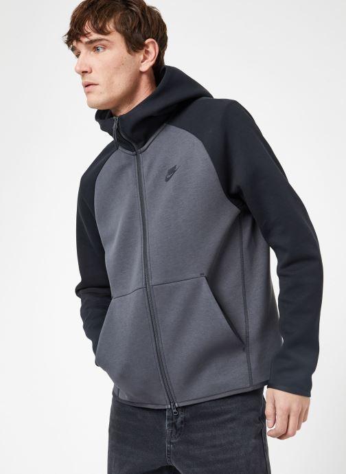 Ropa Nike M Nike Sportwear Tech Fleece Hoodie Full Zip Gris vista lateral derecha