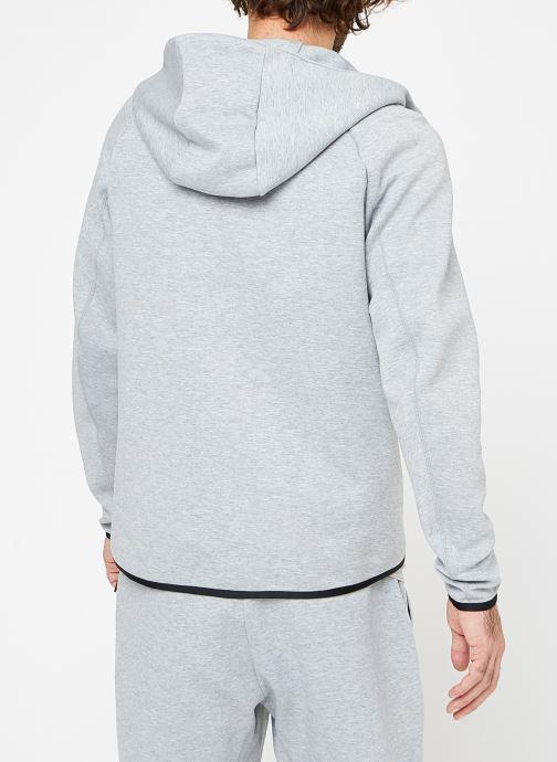 Vêtements Nike M Nike Sportwear Tech Fleece Hoodie Full Zip Gris vue portées chaussures