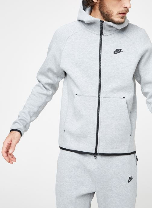 Vêtements Nike M Nike Sportwear Tech Fleece Hoodie Full Zip Gris vue droite