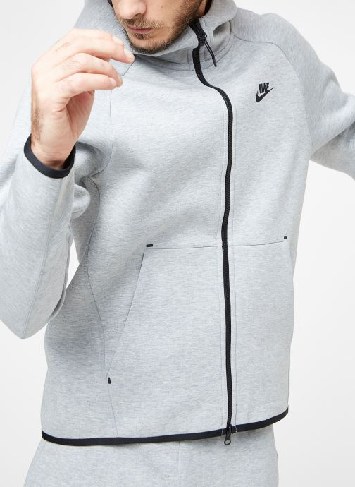 Vêtements Nike M Nike Sportwear Tech Fleece Hoodie Full Zip Gris vue détail/paire