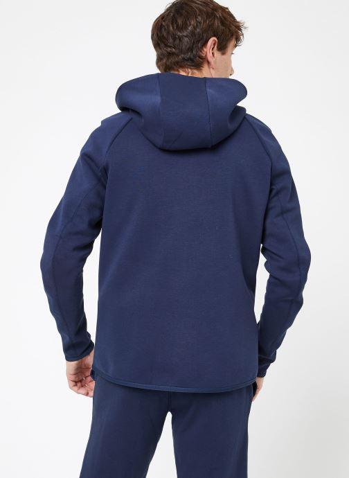 Vêtements Nike M Nike Sportwear Tech Fleece Hoodie Full Zip Bleu vue portées chaussures