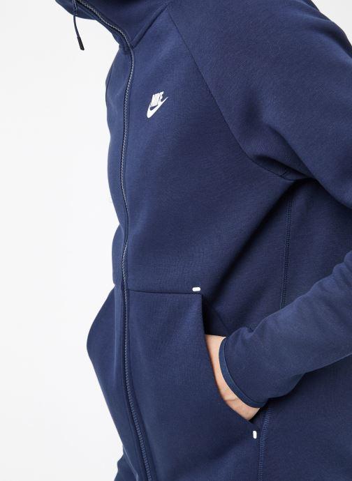 Tøj Nike M Nike Sportwear Tech Fleece Hoodie Full Zip Blå se forfra