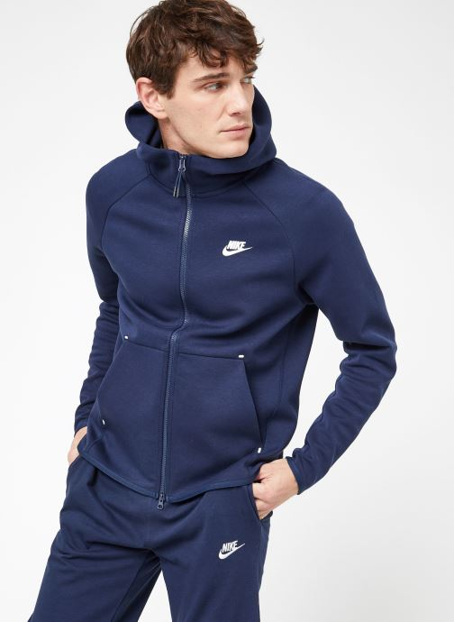 Tøj Nike M Nike Sportwear Tech Fleece Hoodie Full Zip Blå Se fra højre