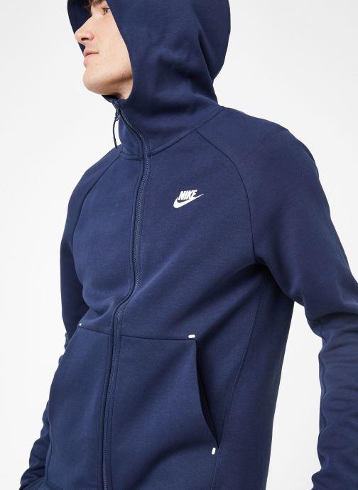Vêtements Nike M Nike Sportwear Tech Fleece Hoodie Full Zip Bleu vue détail/paire