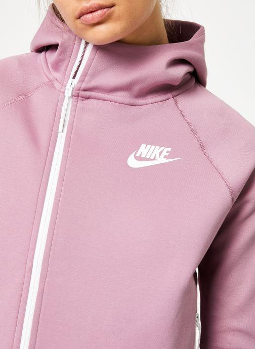 Kleding Nike W Nike Sportwear Tech Fleece Cape Full Zip Paars voorkant