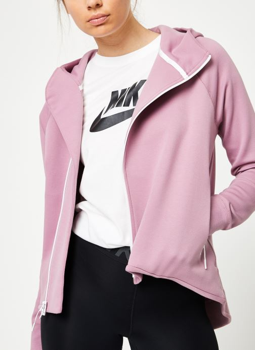 Kleding Nike W Nike Sportwear Tech Fleece Cape Full Zip Paars detail
