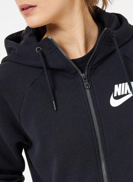 Nike Sportwear W black Rally white Black Hoodie Zip Full rzr65xqw