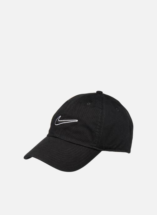 Gorra Nike U Nike Heritage 86 Cap Essential Swoosh Negro vista de detalle    par a77a8ffb341
