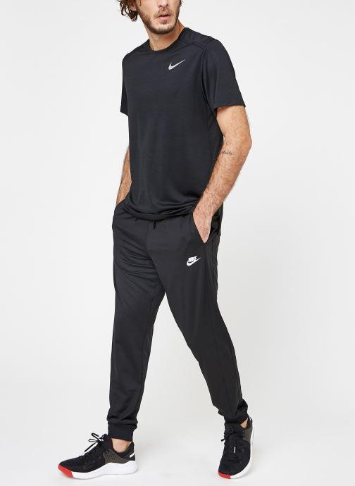 Kleding Nike M Nike Dry Miler Top Short-Sleeve Zwart onder
