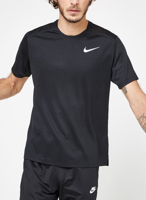 Vêtements Nike M Nike Dry Miler Top Short-Sleeve Noir vue droite
