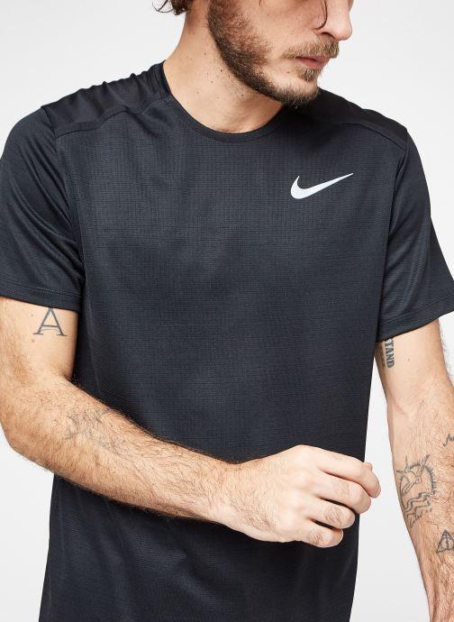 Kleding Nike M Nike Dry Miler Top Short-Sleeve Zwart detail