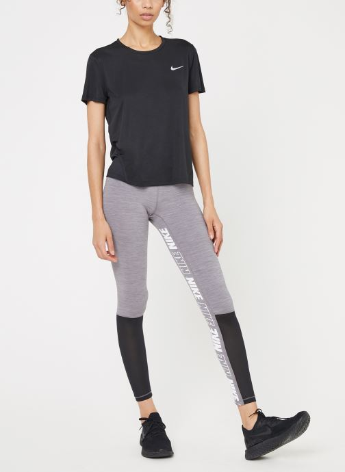 Kleding Nike W Nike Miler Top Short-Sleeve Zwart onder