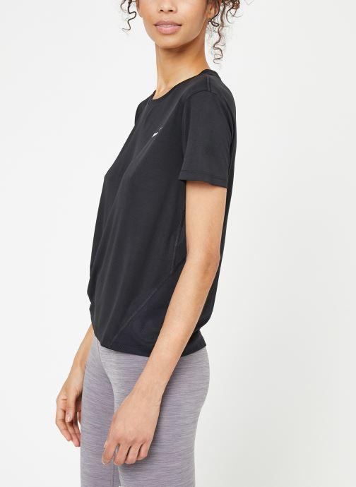 Kleding Nike W Nike Miler Top Short-Sleeve Zwart rechts