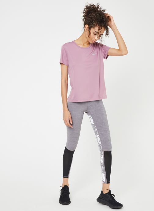 Kleding Nike W Nike Miler Top Short-Sleeve Roze onder