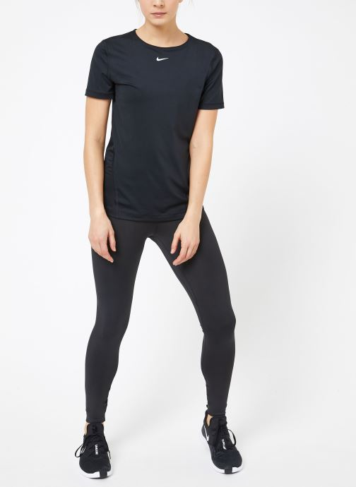 Vêtements Nike W  Nike Pro Top Short-Sleeve All Over Mesh Noir vue bas / vue portée sac