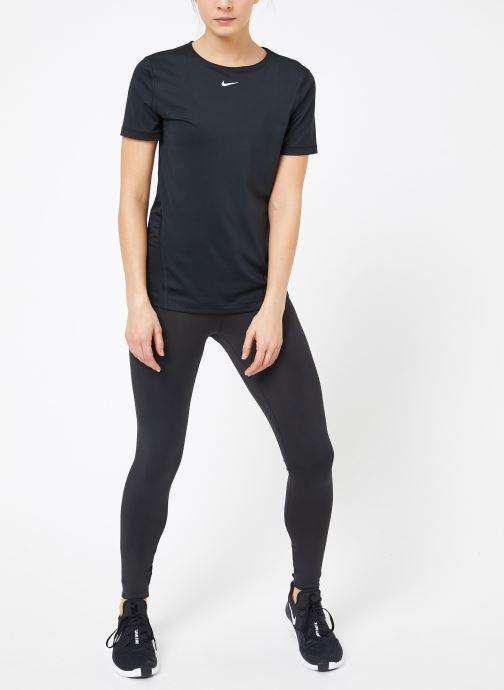 Kleding Nike W  Nike Pro Top Short-Sleeve All Over Mesh Zwart onder