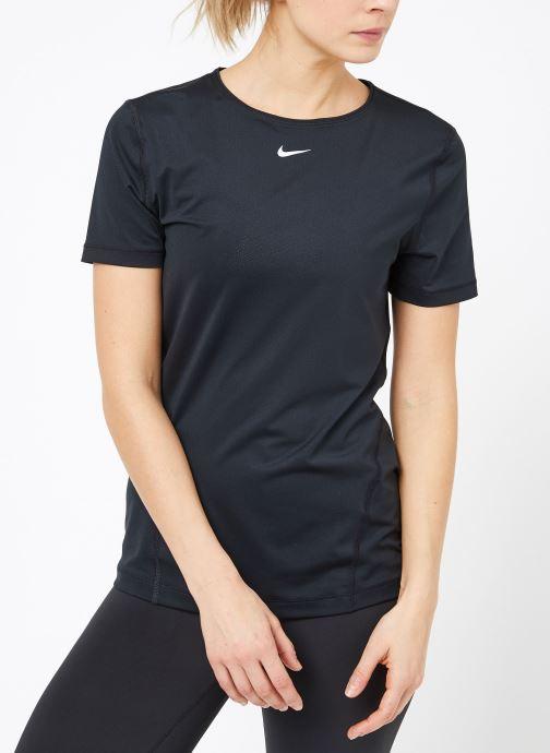 Vêtements Nike W  Nike Pro Top Short-Sleeve All Over Mesh Noir vue droite