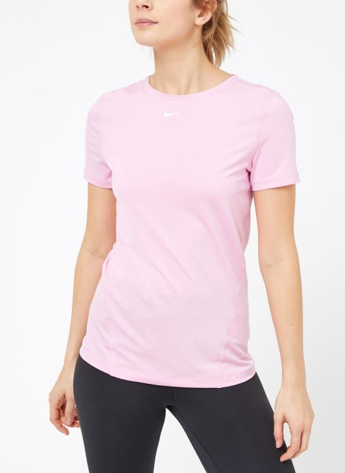 Ropa Nike W  Nike Pro Top Short-Sleeve All Over Mesh Rosa vista lateral derecha