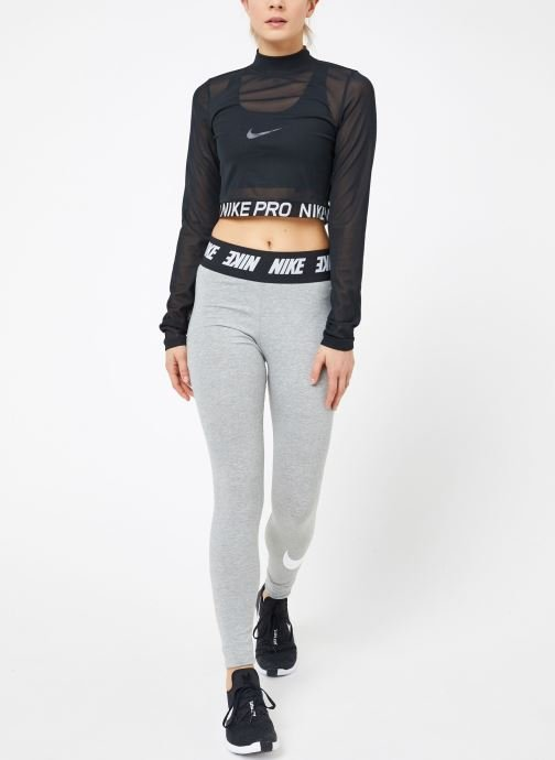Kleding Nike W  Nike Pro All Over Mesh Top Long-Sleeve Zwart onder