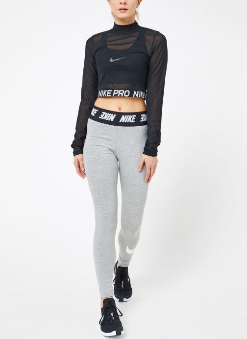 Kleding Nike W  Nike Pro All Over Mesh Top Long-Sleeve Zwart onder