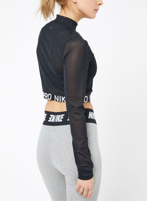Kleding Nike W  Nike Pro All Over Mesh Top Long-Sleeve Zwart model