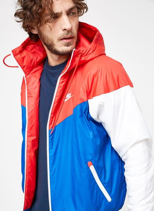 Tøj Nike M Nike Sportwear He Wr Jacket Hd Insltd Blå detaljeret billede af skoene