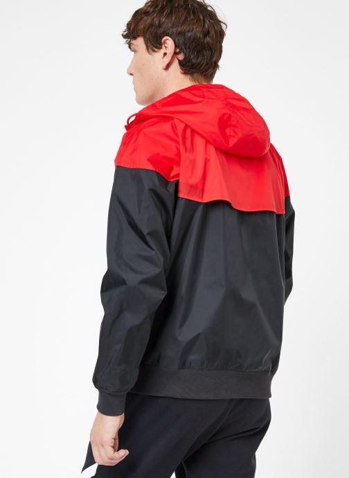 Vêtements Nike M Nike Sportwear He Wr Jacket Hd Noir vue portées chaussures