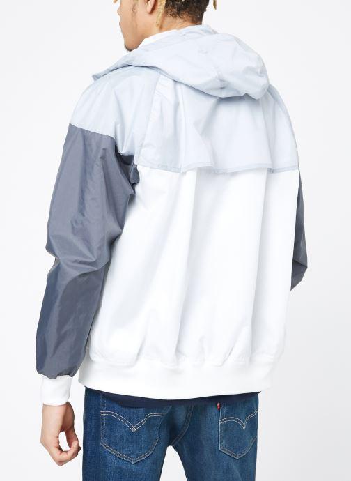 Vêtements Nike M Nike Sportwear He Wr Jacket Hd Blanc vue portées chaussures