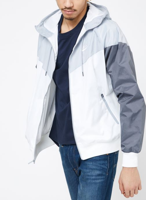 Vêtements Nike M Nike Sportwear He Wr Jacket Hd Blanc vue droite