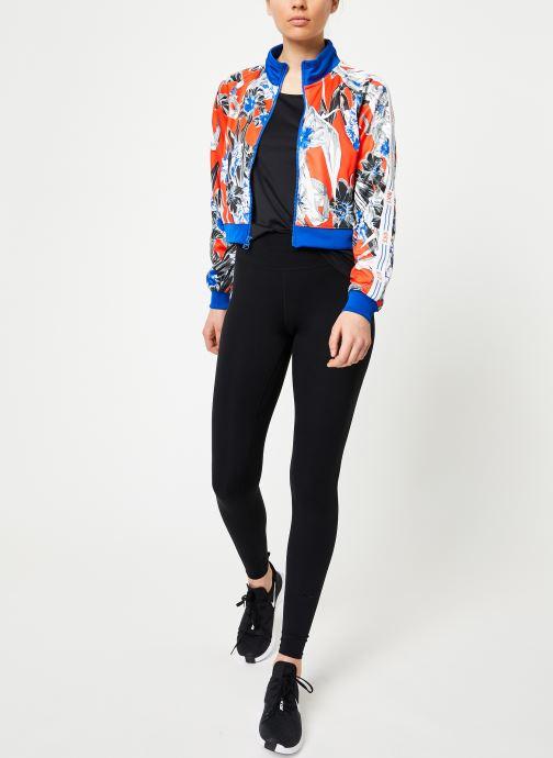Vêtements Nike W Nike Sportwear Hyp Fm Jacket Pk Aop Bleu vue bas / vue portée sac