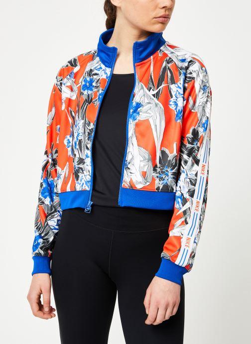 Vêtements Nike W Nike Sportwear Hyp Fm Jacket Pk Aop Bleu vue droite