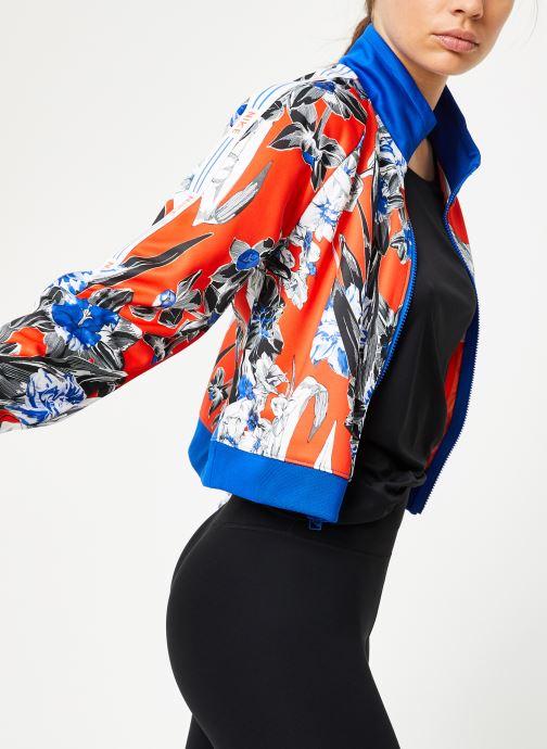 Vêtements Nike W Nike Sportwear Hyp Fm Jacket Pk Aop Bleu vue détail/paire