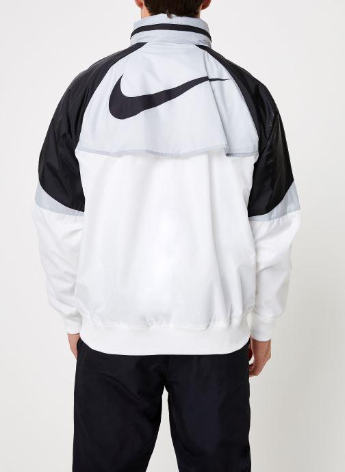 Vêtements Nike M Nike Sportwear He Wr Jacket Hd + Blanc vue portées chaussures