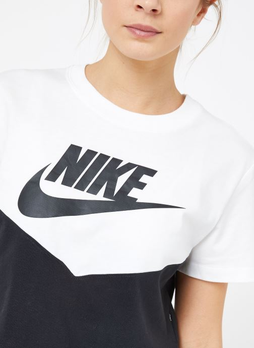 Kleding Nike W Nike Sportwear Hrtg Top Short-Sleeve Zwart voorkant