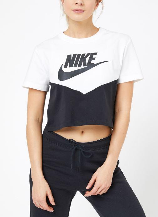 Ropa Nike W Nike Sportwear Hrtg Top Short-Sleeve Negro vista lateral derecha