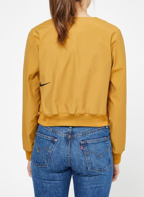 Vêtements Nike W Nike Sportwear Tch Pck Jacket Full Zip Marron vue portées chaussures