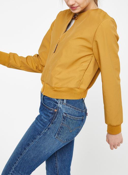 Vêtements Nike W Nike Sportwear Tch Pck Jacket Full Zip Marron vue droite