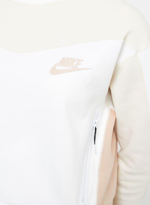 Kleding Nike W Nike Sportwear Tech Fleece Crew Cb Wit voorkant