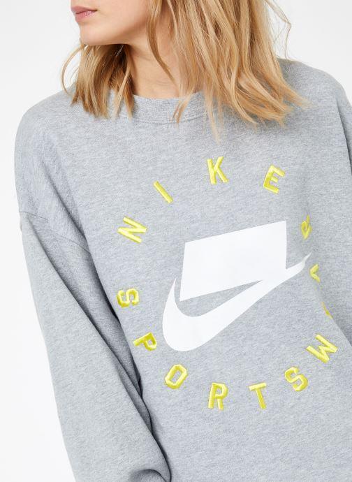 Tøj Nike W Nike Sportwear Crew Fleece Ft Bf Grå se forfra