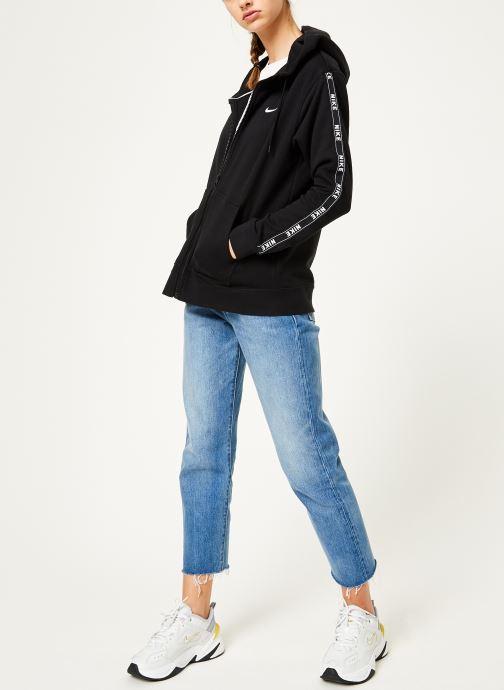 Kleding Nike W Nike Sportwear Hoodie Full Zip Logo Tape Zwart onder