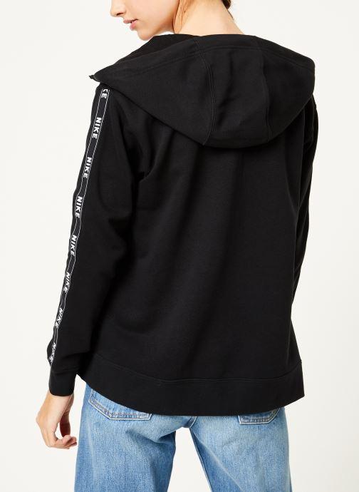 Kleding Nike W Nike Sportwear Hoodie Full Zip Logo Tape Zwart model