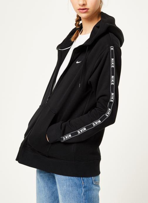 Kleding Nike W Nike Sportwear Hoodie Full Zip Logo Tape Zwart rechts