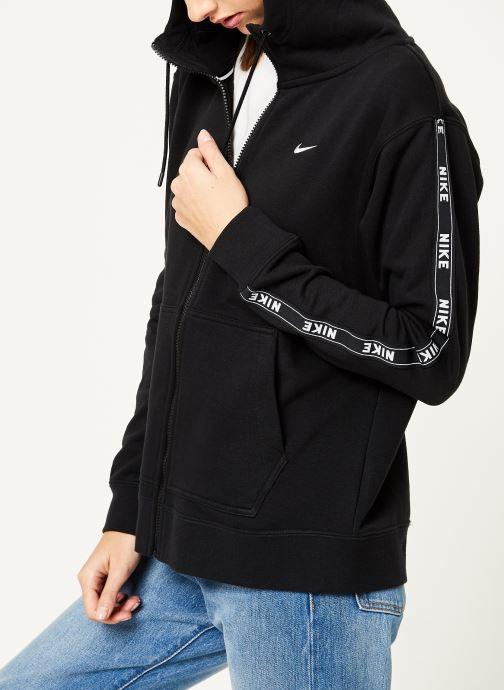 Vêtements Nike W Nike Sportwear Hoodie Full Zip Logo Tape Noir vue détail/paire