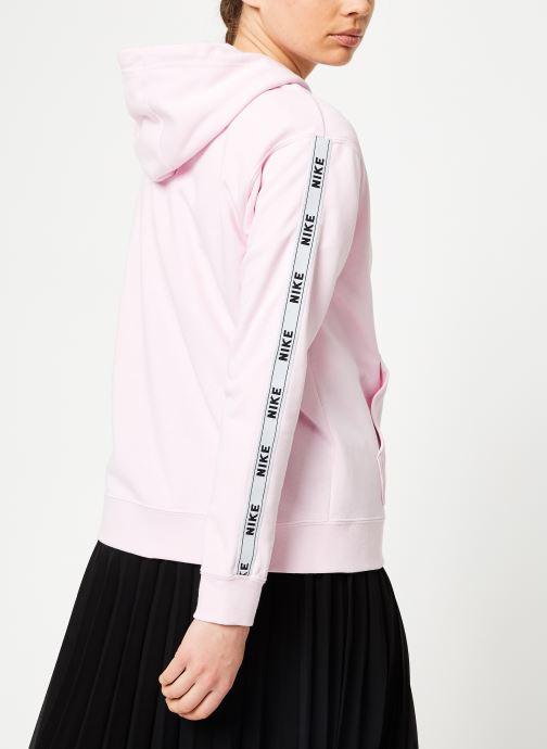Nike W Nike Sportwear Hoodie Full Zip Logo Tape (Rose