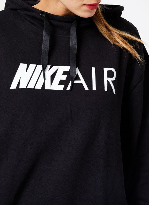 Kleding Nike W Nike Sportwear Air Hoodie Po Zwart voorkant