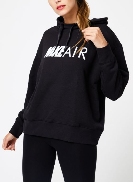 Kleding Nike W Nike Sportwear Air Hoodie Po Zwart rechts