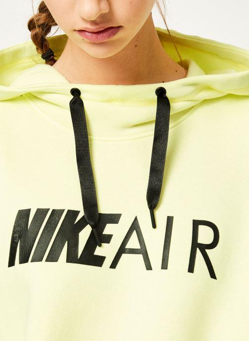 Kleding Nike W Nike Sportwear Air Hoodie Po Geel voorkant